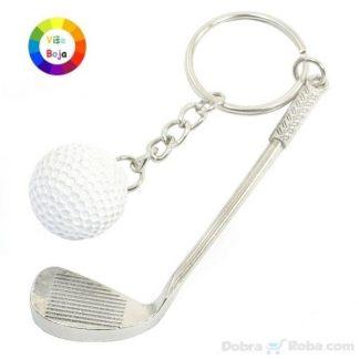 Privezak za Ključeve Golf Palica i Loptica za Golf Privesci u Više boja