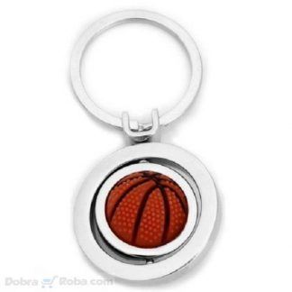 Košarkaška Lopta Privezak za Ključeve Loptica za Basket Okreće se