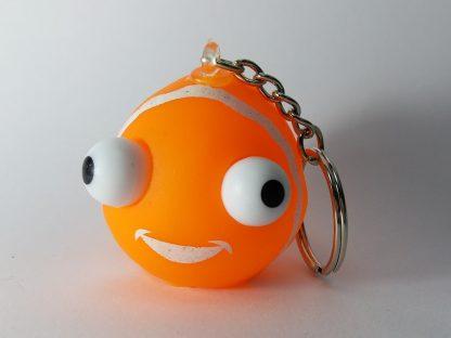 narandžasta gumena riba privezak za ključeve igračka iskakanje očiju
