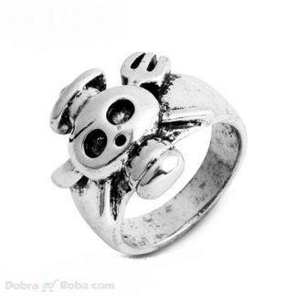 muški prsten kostur kuvar od nerđajućeg čelika pirat prsten sa nožem i viljuškom