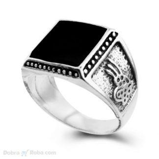 Muški prsten crni kamen