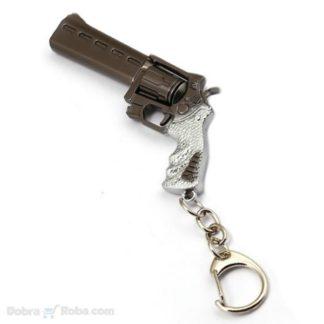 veliki revolver privezak za ključeve za kolekcionare oružja