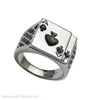 poker prsten muški nakit od nerđajućeg čelika AJ pik prsten