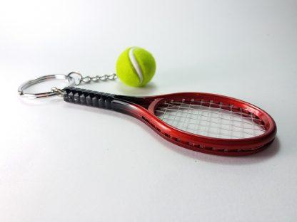 Loptica za reket za tenis crvene boje privezak za ključeve