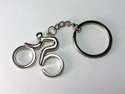 bicikl i biciklista privezak za ključeve