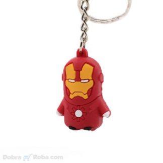 Iron Man Privezak za Ključeve Superheroj Gumeni Privezak