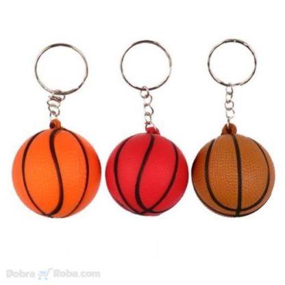 privezak lopta za košarku od gume mekana loptica košarkaška