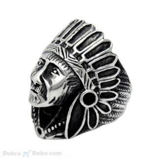 Prsten Indijanac Hirurški Čelik 316L kvalitetan prsten nakit za muškarce indijanac poglavica