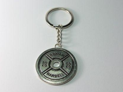 veliki teg privezak za ključeve train hard or go home