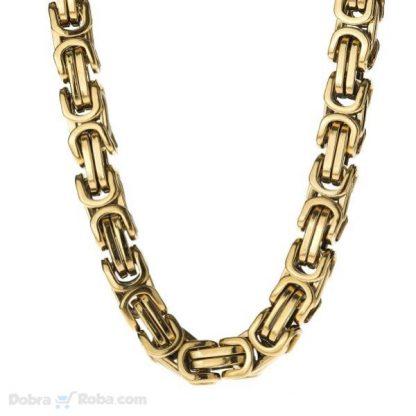 muška zlatna ogrlica kraljevski rad od stainless steel čelika