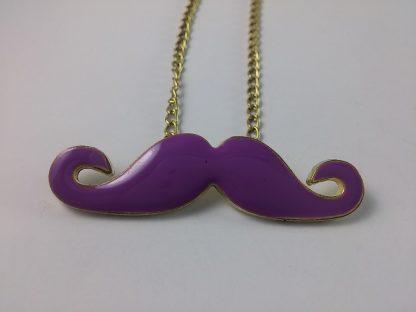 Ljubičasti Brkovi ogrlica za žene , moustache mr brkovi nakit