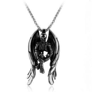 Ogrlica Kostur Anđeo Muška Ogrlica od Čelika koji ne rđa