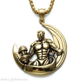 Strongman Ogrlica od čelika - Muška Ogrlica za Trening Bilderska
