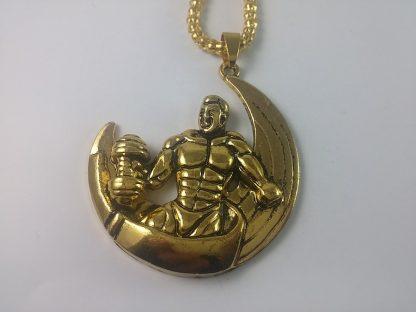Ogrlica za Jake Ljude Strongmen muška ogrlica zlatne boje za prave bildere