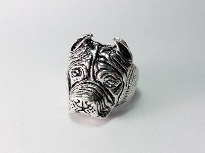 pitbull prsten za muškarce od nerđajućeg hirurškog čelika