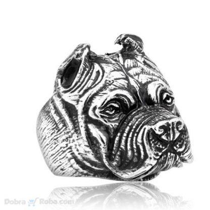 Prsten Pit Bull Muško Prstenje od Hirurškog Čelika