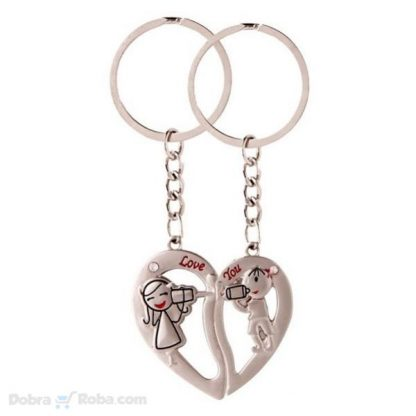 Privesci Srce Love You Dva priveska za poklon