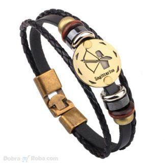 Kvalitetna Strelac Narukvica od Kože - nakit svi znakovi zodijaka