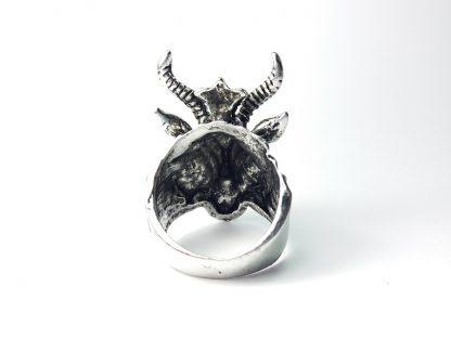 Veliki Prsten Koza Sa Rogovima od Nerđajućeg Čelika