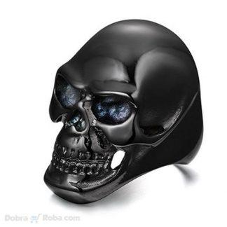 Muški Prsten Crni Kostur od Nerđajućeg Čelika