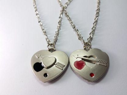 dva srca lančići poklon za zaljubljene za momka i curu