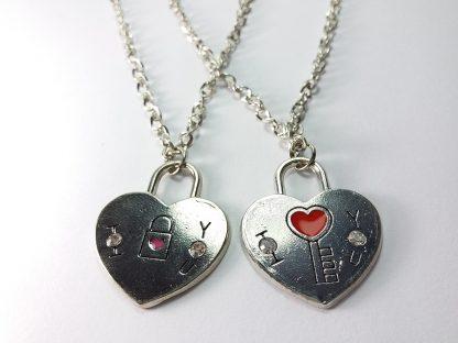srce i ključ srca za zaljubljene nakit ogrlica