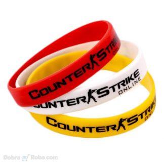Counter Strike Narukvica za muškarce gejmere gumena cs:go narukvica global offansive