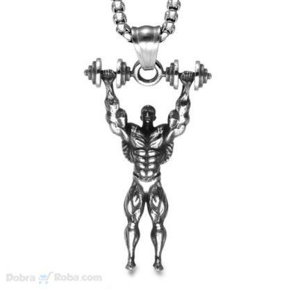 lanac strong men model #5 čovek diže tegove bučice