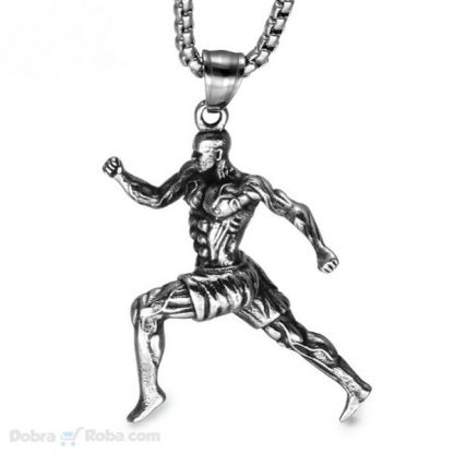 kvalitetna ogrlica za sportiste od medicinskog čelika