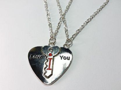 lančići za poklon srce i ključ