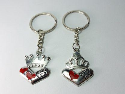 poklon privesci za dečka i devojku srca za kralja i kraljicu privesci