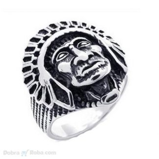 poglavica muški prsten od medicinskog čelika