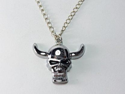 muški lančić sa priveskom kosturska lobanja model broj #1 od nerđajućeg čelika