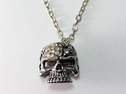 kostur sa cirkonima muška ogrlica unisex nakit