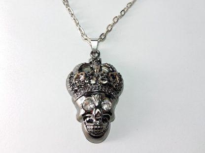 kosturska lobanja sa krunom muški lanac ogrlica za muškarce