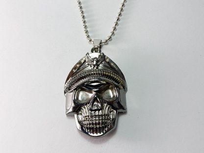 privezak kostur sa kapetan kapom komandant ogrlica od nerđajućeg čelika