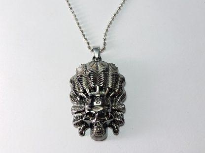 kostur indijanac ogrlica od čelika muška