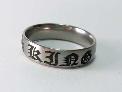 king muški prsten za zaljubljene kralj sivi od čelika