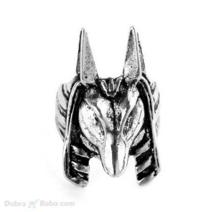Prsten anubis od hirurškog čelika egipatski bog šakal