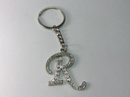 R slovo privezak za ključeve sa cirkonima
