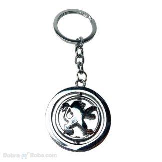 rotirajući peugeot privezak za ključeve 206 106 306 406
