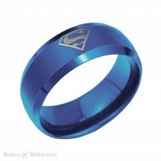muška plava supermen burma od nerđajućeg čelika