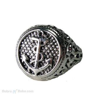 muški prsten sidro od čelika koji ne rđa