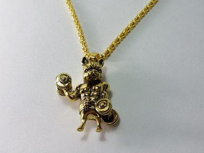zlatna boja lančić sa priveskom staford diže teg teretana trening nakit