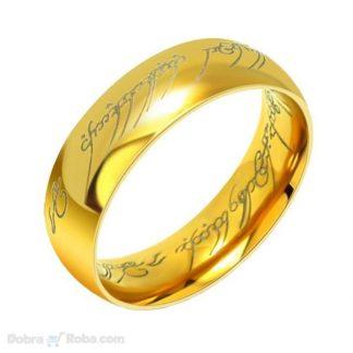 prsten moći u zlatnoj boji gospodar prstenova frodo prsten od nerđajućeg čelika
