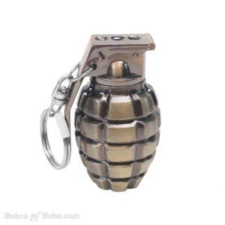 privezak led bomba ručna granata sa laserom i sijalicom privesci