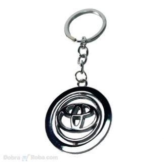 rotirajući toyota privezak za automobil yaris corolla rav4 privesci za kola metalni rotirajući logo znak auta tojota