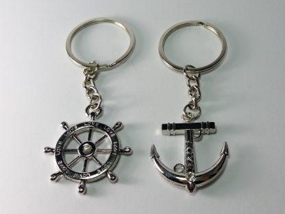 sidro i kormilo privesci za ključeve more mornarski za nju i njega
