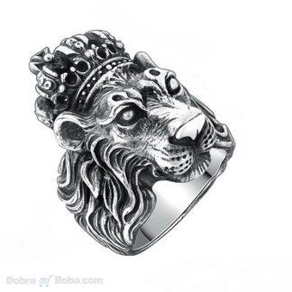 muški prsten lav kralj nerđajući čelik prsten lav sa krunom