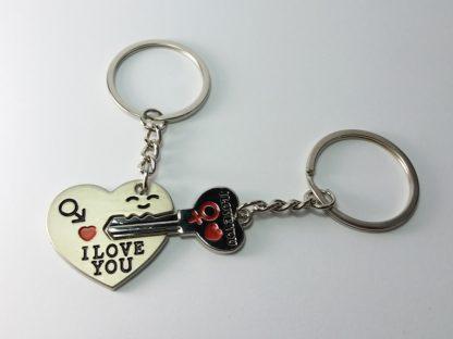 i love you dva priveska srce i ključ u srcu poklon dečku devojci
